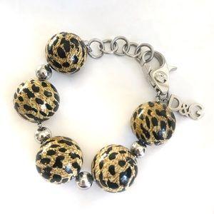 Dolce & Gabbana Jewels Leopard Print Bead Bracelet